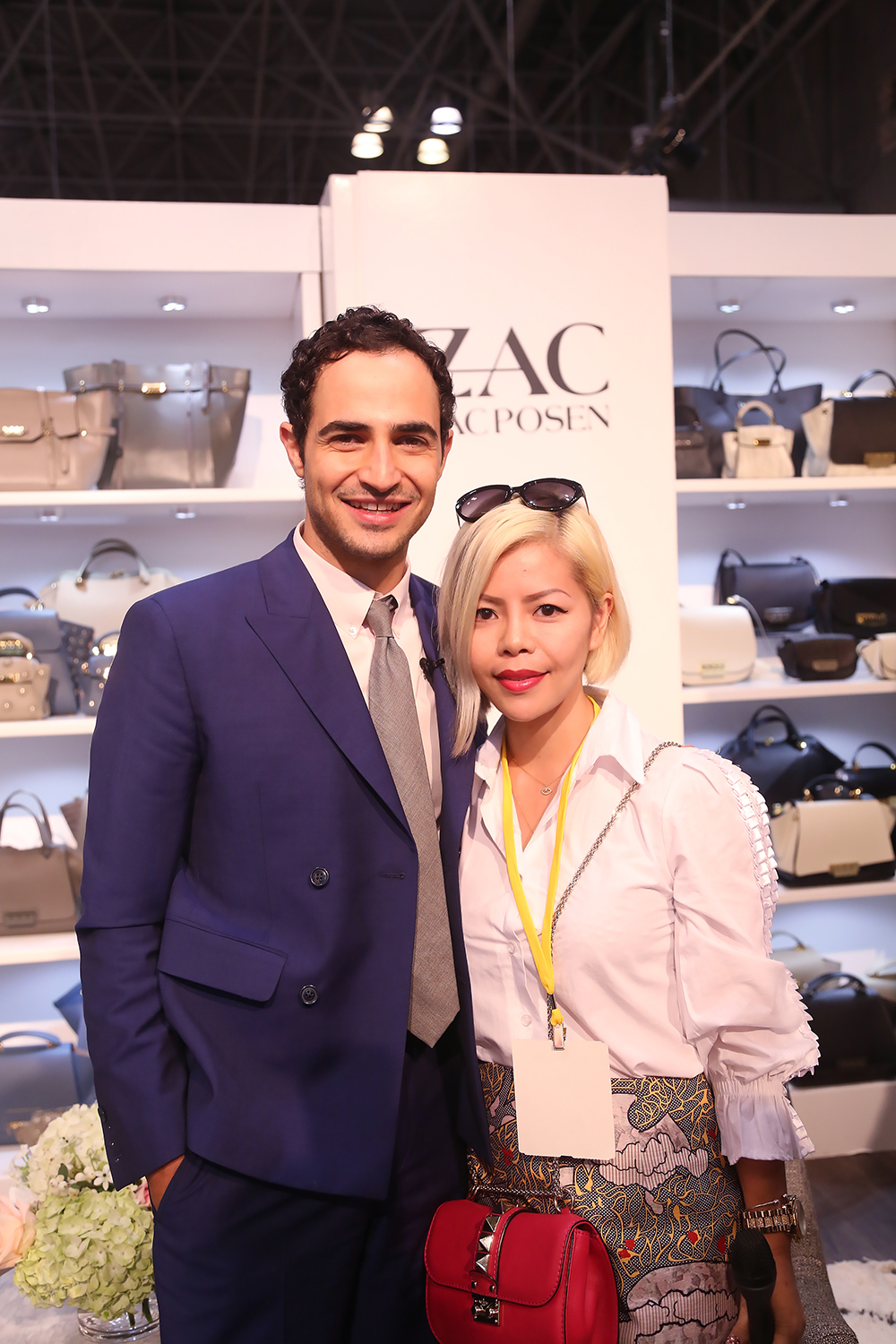 Crystal Phuong and fashion designer, Zac Posen- New York Fashion Week 2015