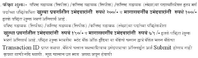 ZP Nagpur 2013 Recruitment Exam Fees