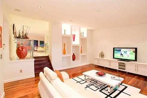 Decoraci n minimalista y contempor nea salas y estancias for Living room designs for small spaces in the philippines