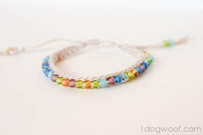free crochet pattern beaded bracelets
