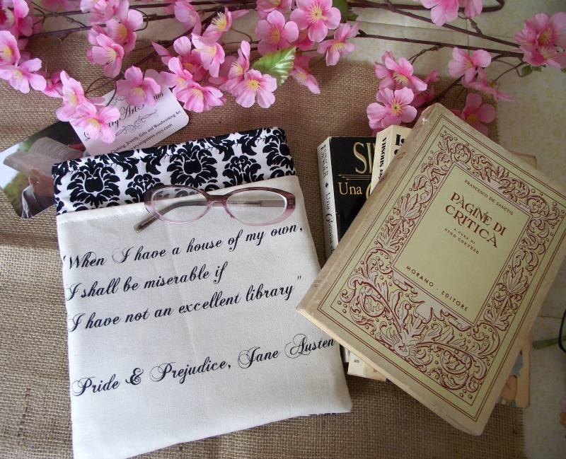 Book Sleeves with Jane Austen Quote