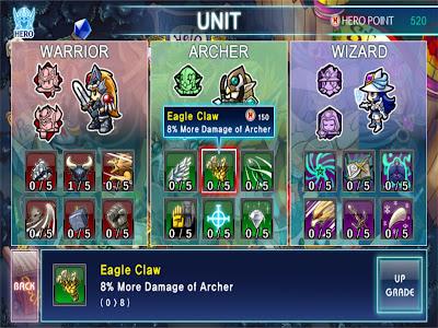 Fantasy Defense HD - อัพเกรดพลังด้วย Hero Point