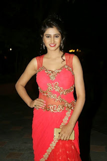 Shamili Transparent Red Saree Latest Unseen Pictureshoot (8).JPG