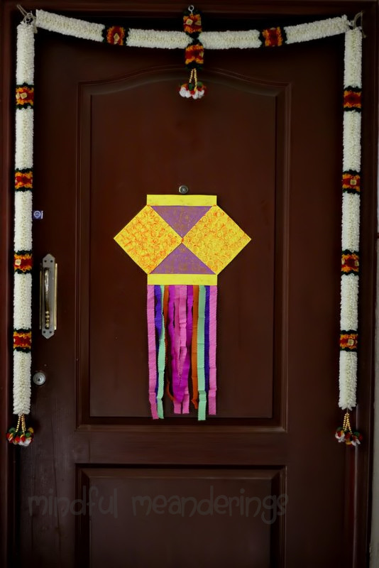 The kandil at the door artsy craftsy mom for Art and craft for diwali decoration