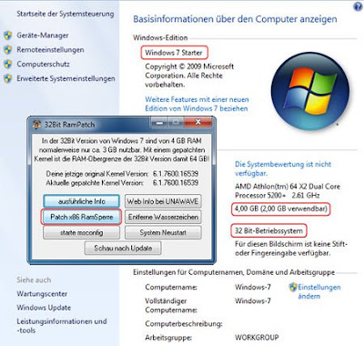 32Bit RamPatch - Unlock Upto 64GB RAM in 32-bit Windows