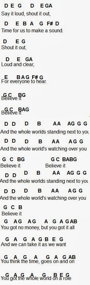 Flute Sheet Music Believe It