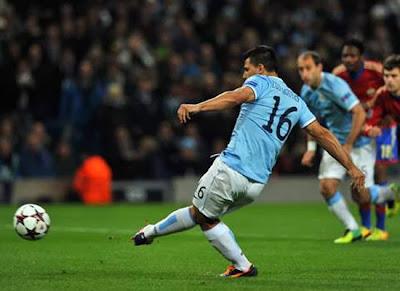 Sergio Aguero Manchester City vs CSKA Moskva Uefa Champions League