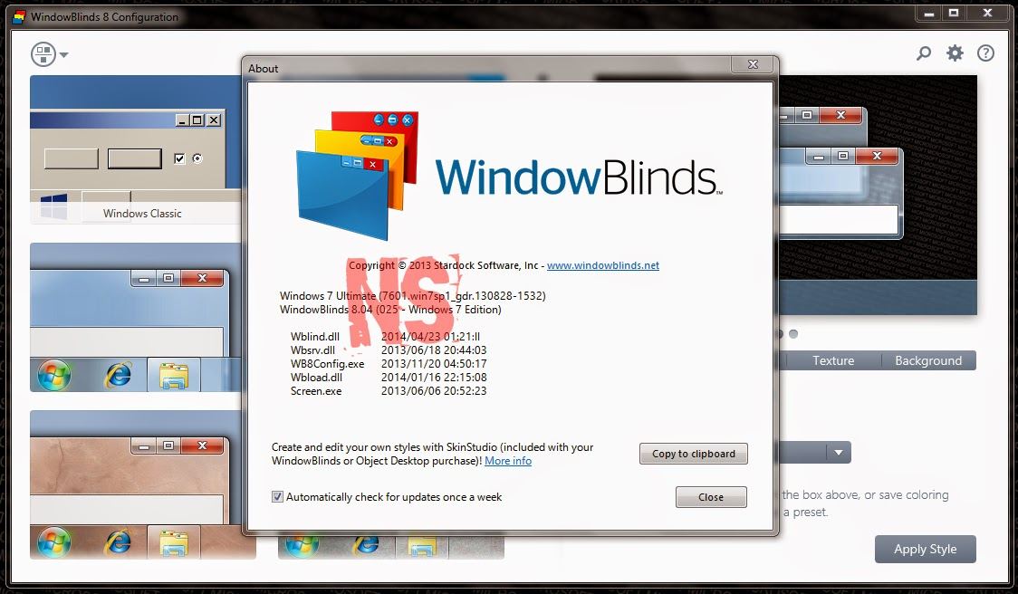 2 марта 2010 г. - WindowBlinds 6.0 Crack Rus +ThemePack- -Разработчик: Star