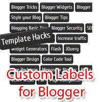 Customize Labels Widget with Stylish Cool Effects