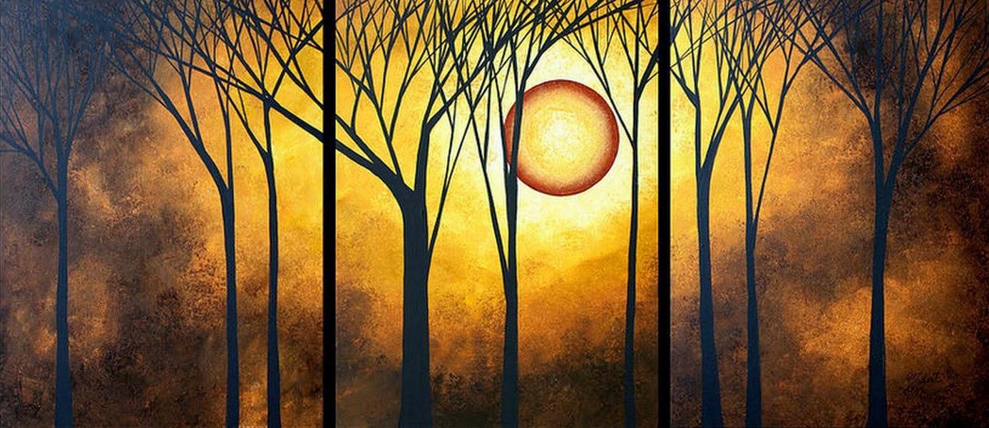 Cuadros sobre lienzo y bastidor de madera pintura en for Imagenes de cuadros abstractos faciles de hacer