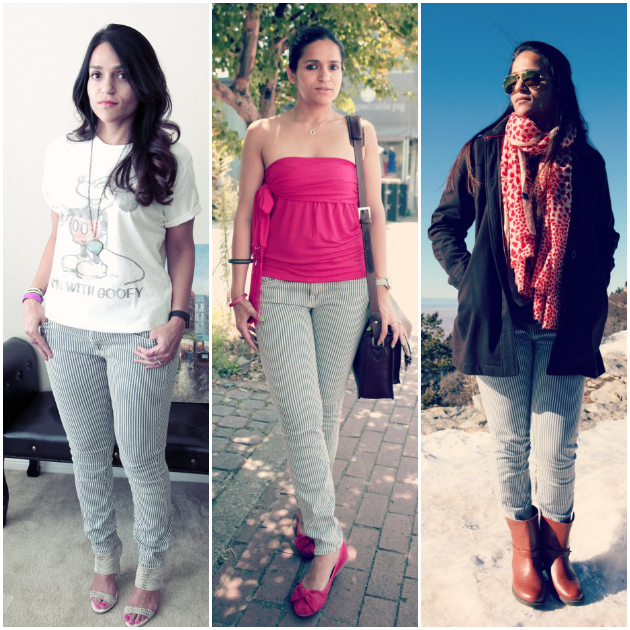 Three Ways To Style Striped Denims, Tanvii.com