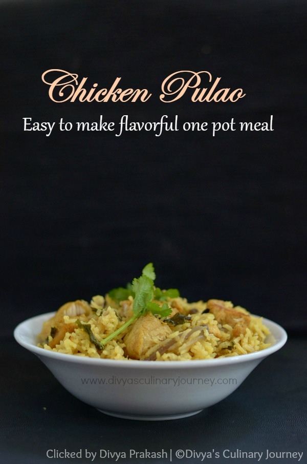 Chicken pulao made in pressure cooker, easy chicken pulao