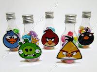 Lembrancinhas Temáticas Angry Birds - Garrafinhas