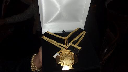 Medalha de Condecoração recebida por Marta Lança