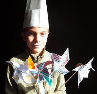girandole e giovane chef