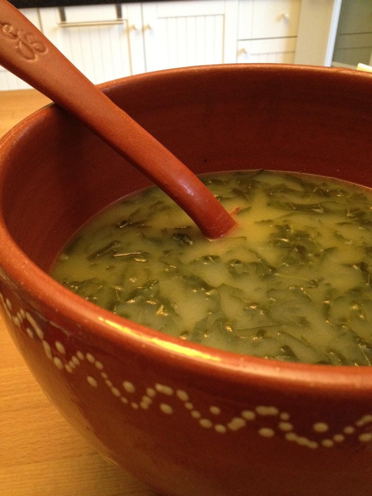 My Portuguese Kitchen Caldo Verde Collard Greens Soup