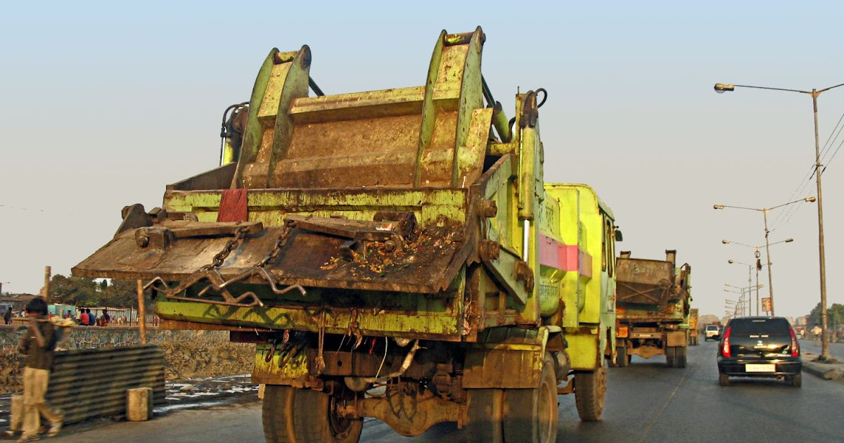Stock Pictures Garbage Trucks Or Dumpers In India