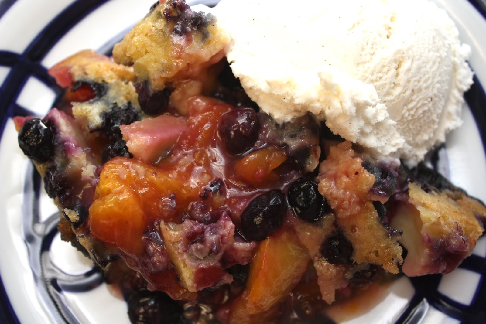 Meet the Sullivans : Blueberry-Peach Cobbler