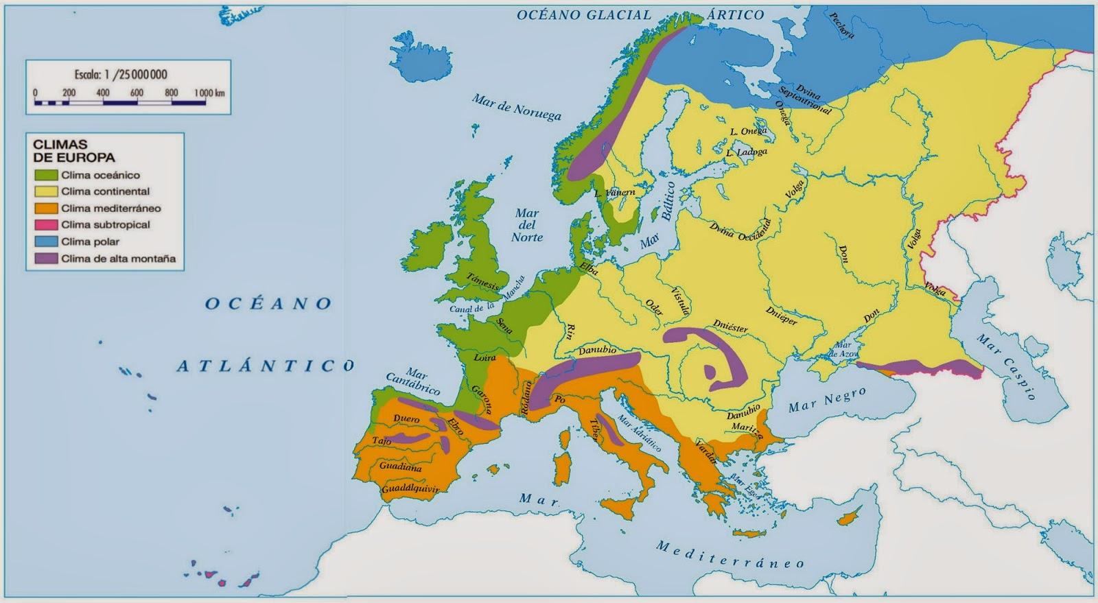 MAPA CLIMTICO DE EUROPA  MIS TAREAS SIEMPRE LISTAS