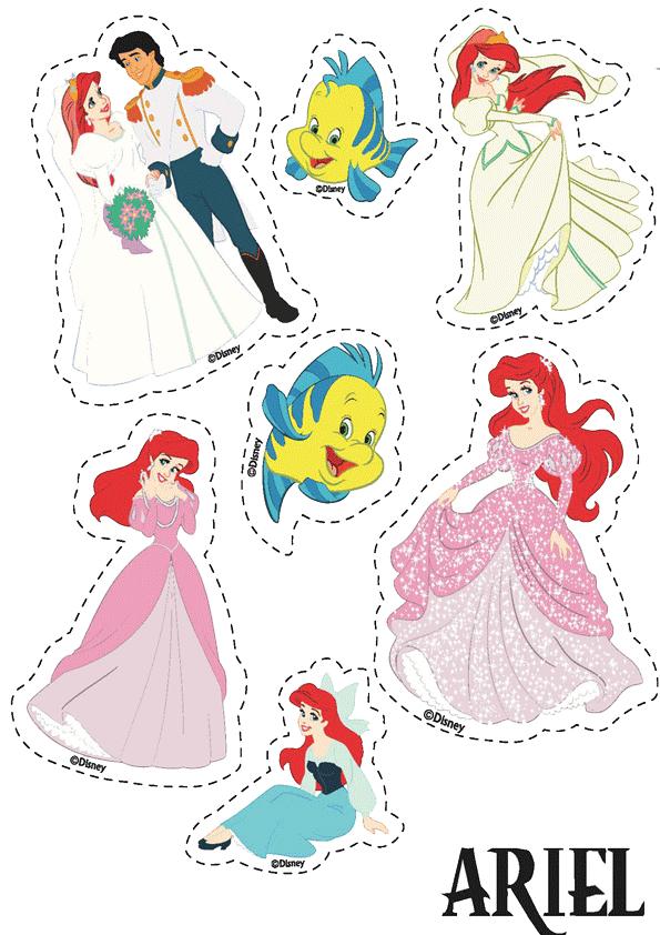 Imprimir y recortar princesas disney