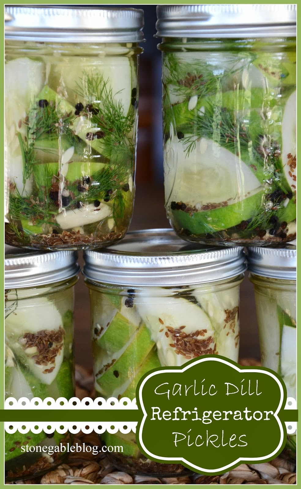 ... pickles! Crazy easy and puckery good GARLIC DILL REFRIGERATOR PICKLES