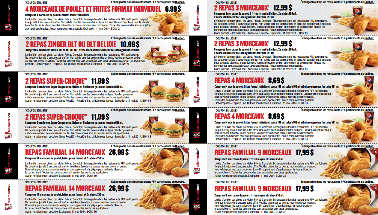 Kfc coupons quebec