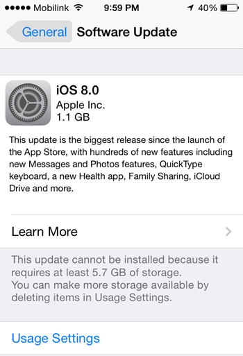 Apple iOS 8 Firmware Final OTA Update for iPhone, iPad and iPod Touch