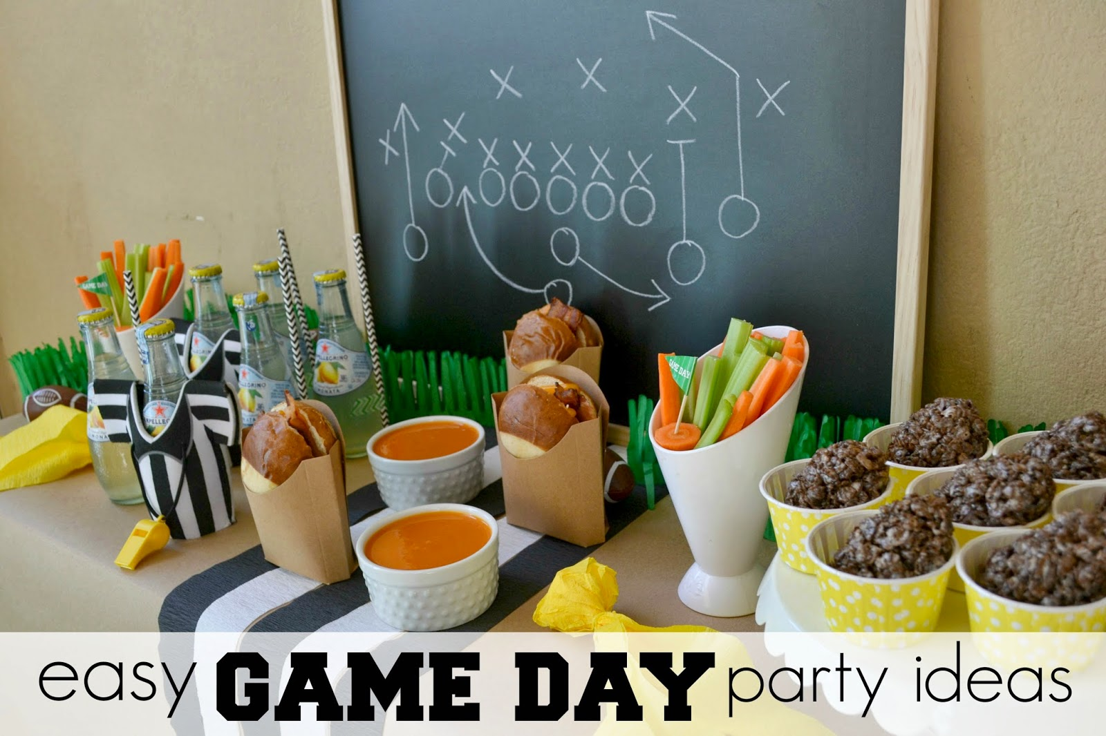 Mommy Testers, Football party decor, game day party snacks, DIY football decorations, easy game day party, #OneBuyForAll #shop #cbias