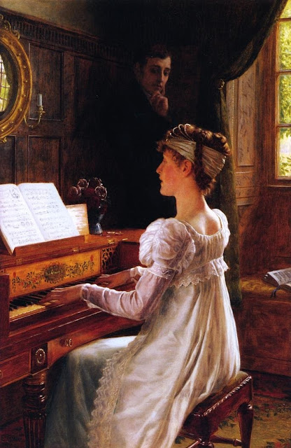 courtship,Edmund Blair Leighton,genre