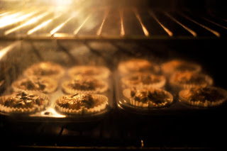 One day we will wow you with a cakes rising time lapse - that day will come after we clean the oven window.