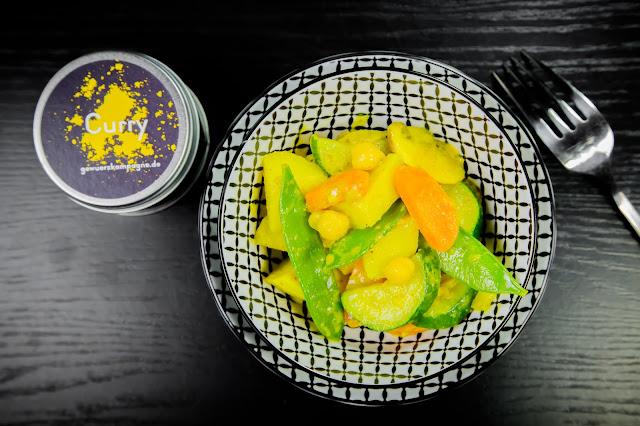 Curry Rezept mit Pulver der Gewürzkampagne