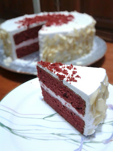 Red Velvet Walnut Cake