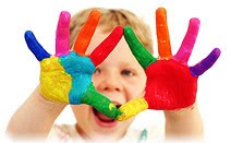 Дошкольник, ребёнок, краски, руки
