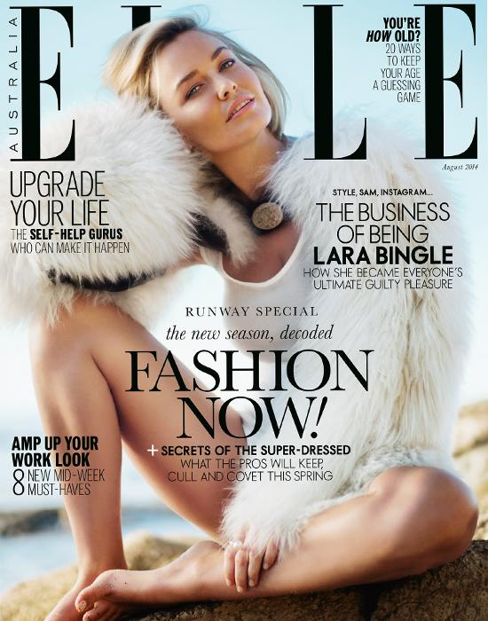 Lara Bingle - Elle Magazine, Australia, August 2014