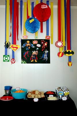 circles of sunshine super hero birthday party