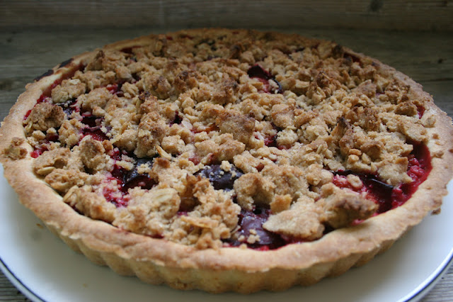 Whole Wheat Plum Crumble Tart