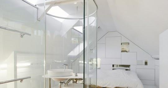 Feng Shui Dormitorio Con Baño:Baño Integrado con Paredes de Cristal