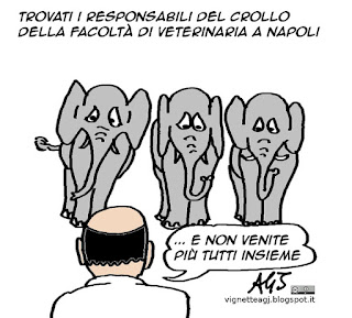 Umorismo, Napoli, crolli, vignetta