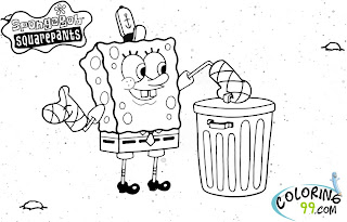 spongebob squarepants coloring pages for kids
