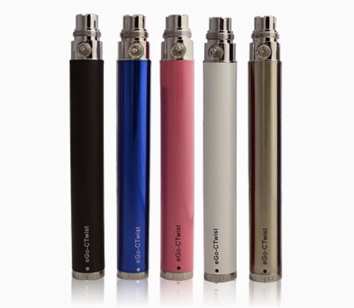 Batterie eGo C Twist 1.100 mAh Noir, Bleu, Rose, Blanche ou Inox