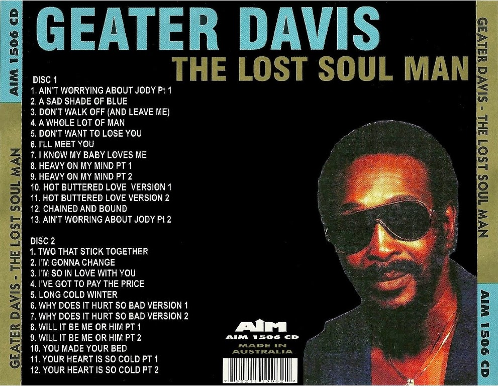 Geater Davis - Sadder Shades Of Blue: The Southern Soul Sessions 1971-76