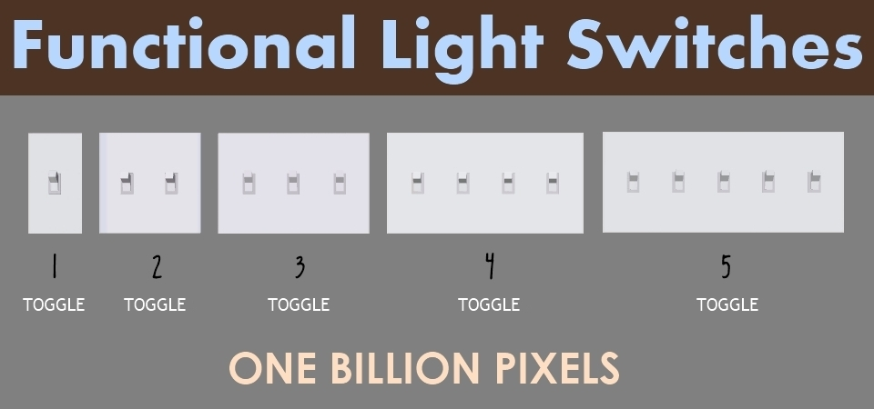 Functional Light Switches One Billion Pixels
