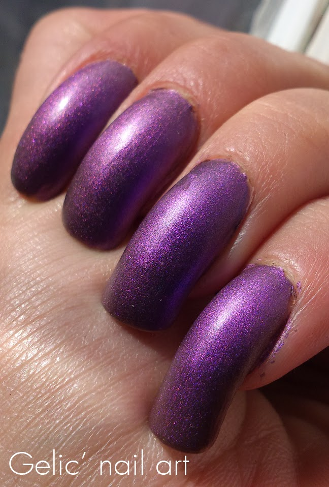 Gelic\' nail art: HM Matte Metallic - Purple Metal, swatch