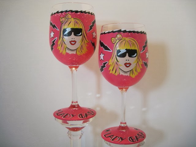 lady gaga wine glass