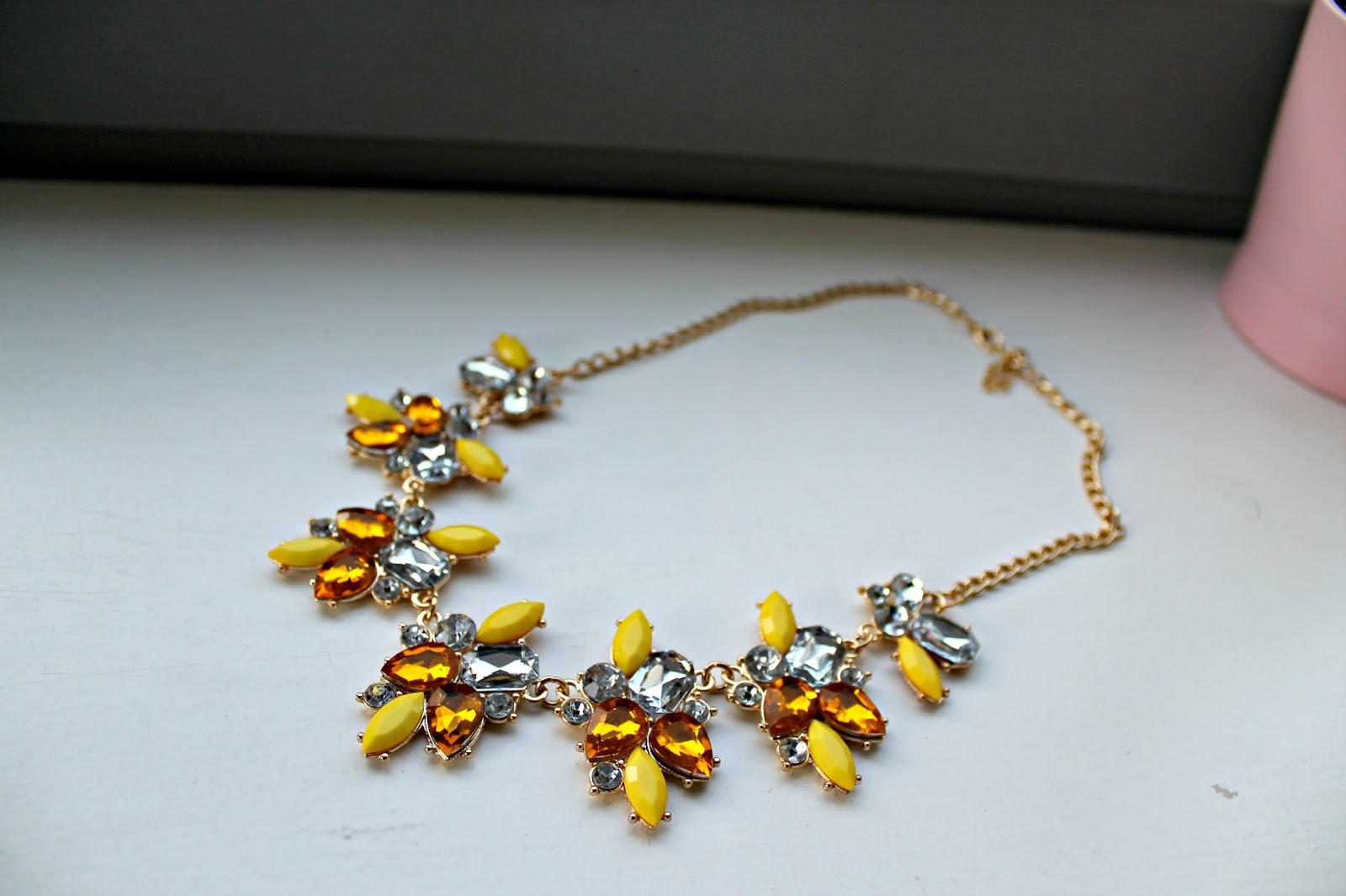 a yellow jewel neckalce blog photo