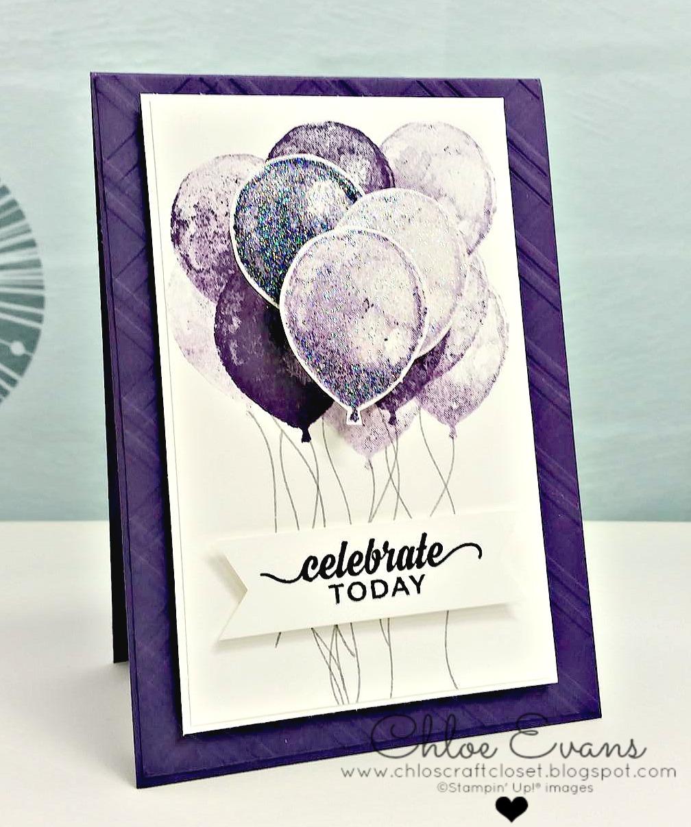 Stampin Up Birthday Balloons