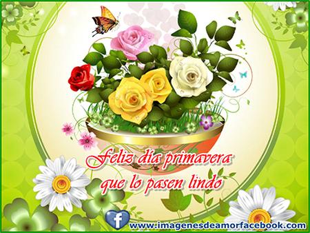 imagenes de tarjeta feliz primavera para facebook