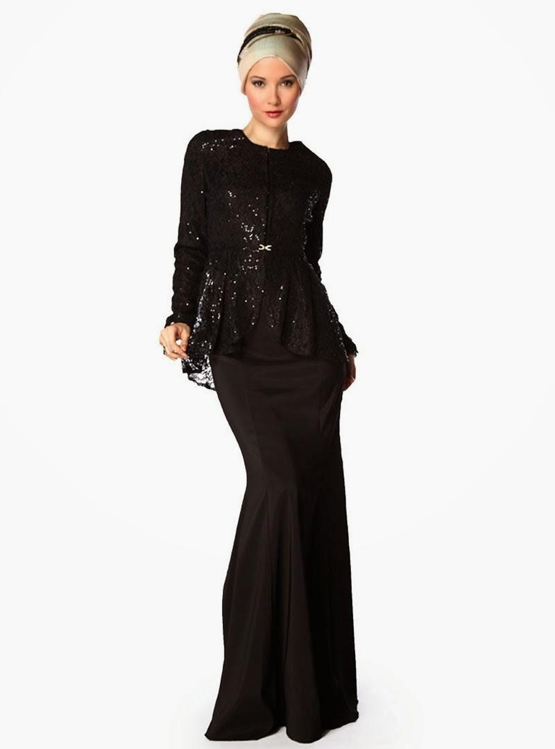 24 Contoh Model Baju Muslim Brokat Terbaru Dan Terbaik Kumpulan