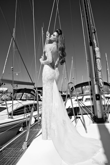 Galia Lahav bakcless wedding  dress 2013 2014