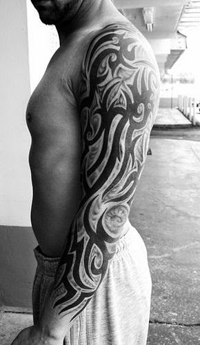 Tribal arm tattoos attract and fascinate the onlookers and hardly miss anyone's eyes.